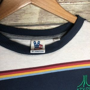 Junk Food Clothing Tops - Junk food Atari retro striped t-shirt top graphic